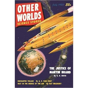 OTHER WORLDS science stories VINTAGE COMIC BOOK cover poster RARE HOT 24X36