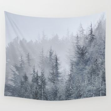 Early moorning... Into the woods Wall Tapestry by Guido Montañés