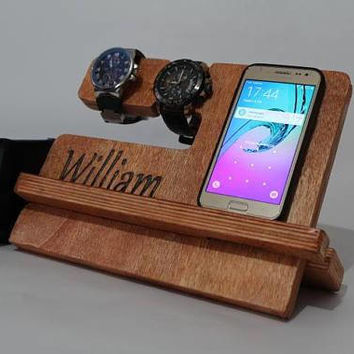 Docking Station gift for him Charging Station gift for men Wood Docking Station Gift forHusband
