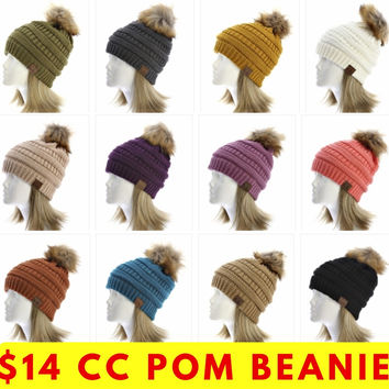 CC Beanie with Poms (12 colors)