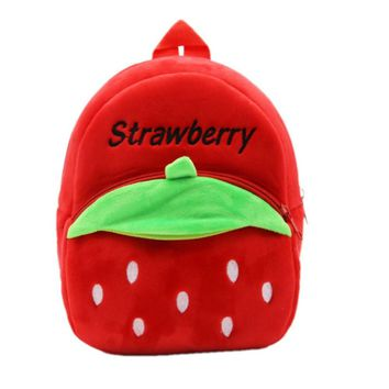 Ruipai Lovely Plush Strawberry 1-3 years old Baby Boys & girls Snacks Bags Kids Backpacks Kindergarten School Bag Backpacks
