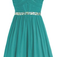 Sunvary Short Rhinestone Waist Chiffon Cocktail Homecoming Dress for Sweety Prom