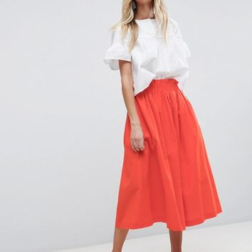 ASOS Tailored Linen Prom Skirt at asos.com