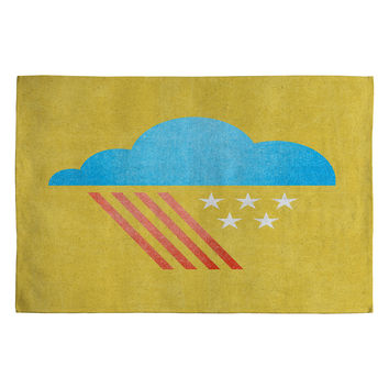 Nick Nelson Patriotic Weather Woven Rug