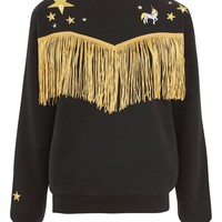 Western Tassel Sweatshirt by Tee and Cake