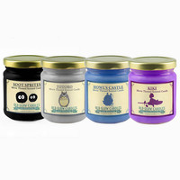 Studio Ghibli Inspired Scented Candle Set - Howl's Castle, Kiki, Totoro, Soot Sprites
