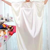 Handmade Yvory Satin Long Maxi Plus size Oversize One size Caftan Dress - Made to order
