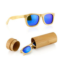 Polarized Wood Wooden Mens Womens Vintage Sunglasses Eyewear with Bamboo box  + Free Shipping