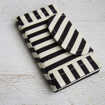 Ready to Ship - Flip Folio IPhone 6/iPhone 6 Plus/iPhone 5 Case/Samsung 5/iPod Case/dixieswindow/Samsung Case/Cover/Black & White Stripes