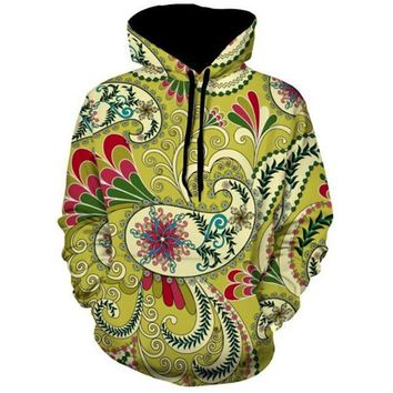 Paisley Print Hoodie Sweatshirt Men Women New Fashion Long Sleeve Pullovers Outwear Jacket Casual Tracksuit S-5XL
