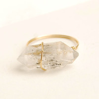 natrual crystal ring crystal quartz ring natrual stone jewelry personalized ring