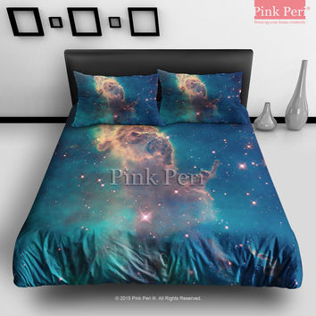 Carina Nebula Astronomy Nebulae Outer Space Stars Bedding Sets Home & Living Wedding Gifts Wedding Idea Twin Full Queen King Quilt Cover Duvet Cover Flat Sheet Pillowcase Pillow Cover 040