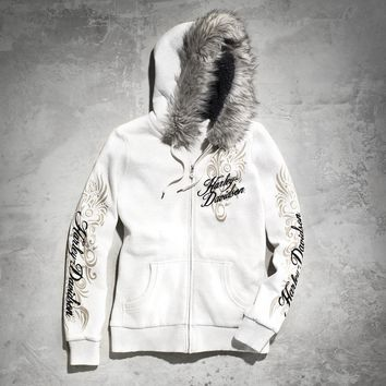 Women's Faux Fur Accented Hoodie | Hoodies | Official Harley-Davidson Online Store