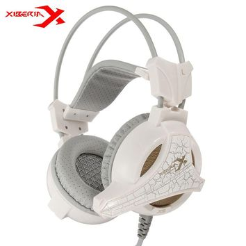 XIBERIA X5+ Vibration USB Gaming Headphones Stereo Surrounded Sound Deep Bass Over-Ear Headsets With Microphone For PC Gamer