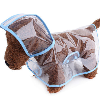 Waterproof Cloak Puppy Hooded Raincoat For Small Dogs