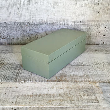 Metal Box Industrial Box Metal File Cabinet Industrial Storage Vintage Office Storage Portable File Cabinet Utility Box Metal Photo Box