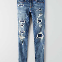 AEO Denim X Super Low Jegging, Hi-Low Indigo