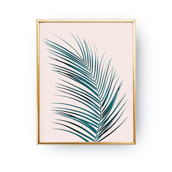 Thin Palm Leaf Print, Floral Wall Decor, Watercolor Art, Flower Decor, Botanical Poster, Boho Art, Tropical Print, Boho Desert,Modern Prints