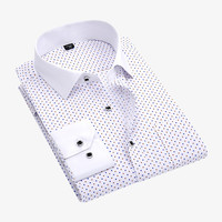 Polka Dots Printed Shirt In White