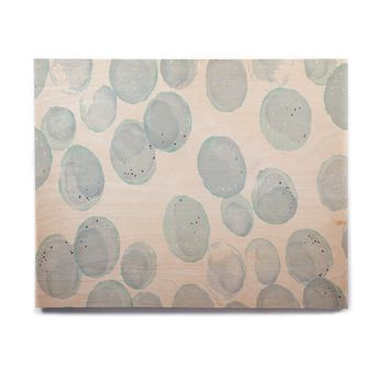 "Alison Coxon ""Pebbles"" Blue Aqua Birchwood Wall Art"