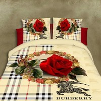 2016 4Pcs Newest Flowers 3d Bedding Sets Thicker Bedding Set King Size Bed Sheet Duvet Cover Pillows Quilt No Comforter