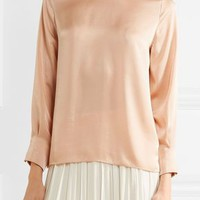 Maya satin blouse   ELIZABETH AND JAMES   Sale up to 70% off   THE OUTNET