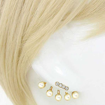 Double-sided  Convertible Pearl Stud Earrings