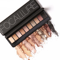 Focallure Shimmer Matte Eye Shadow Palette Set - 4 Colors