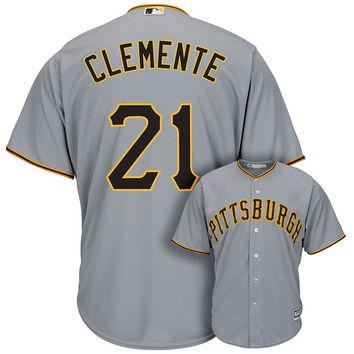 Majestic Pittsburgh Pirates Roberto Clemente Cooperstown Collection Cool Base Replica MLB Jersey