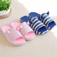 Cute Cat Summer Lover Slippers Pink/Blue
