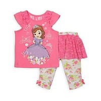 Disney Baby Sofia the First Infant & Toddler Girl's Top & Skirted Leggings