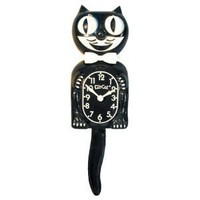 California Clock Company Kit Cat Klock Moving Retro Clock, small Black