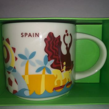 Starbucks You Are Here Collection Spain Ceramic Coffee Mug New with Box