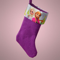 Adorable Disney Christmas Stockings! Happy Holidays! Large Version-Frozen