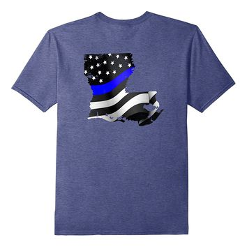 Louisiana Police Officer T-Shirt LEO Cops Law Enforcement