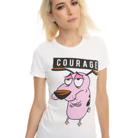 Courage The Cowardly Dog Courage Girls T-Shirt