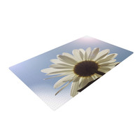"Angie Turner ""Daisy Bottom"" Sky Flower Woven Area Rug"