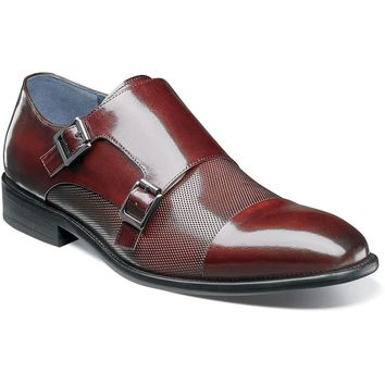 Jennings Cap Toe Double Monkstrap by Stacy Adams