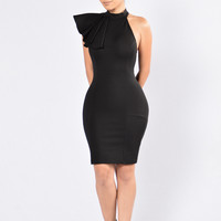 Ruffle Butter Dress - Black