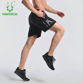 Vansydical Summer Running Sports Shorts Men's Quick Dry Breathable Fitness Training Basketball Jogging Gym Shorts