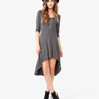 3/4 Sleeve High-Low Dress
