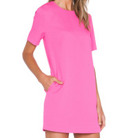 Shift Dress in Fuchsia