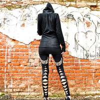 High Waisted Leggings with High Priestess Print