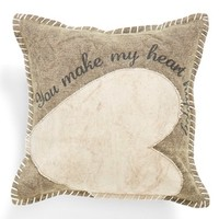 Primitives by Kathy 'Heart Happy' Pillow - Beige