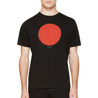 Paul Smith Red Ear Black Circle Graphic T-shirt