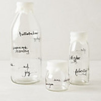 Glass Dairy Bottle by Anthropologie Clear