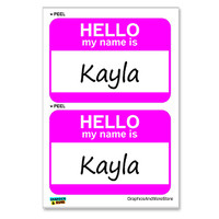 Kayla Hello My Name Is - Sheet of 2 Stickers