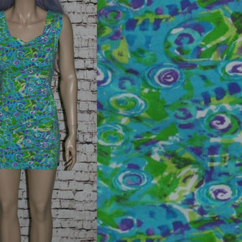 90s Bodycon Mini Dress Blue Green Purple Spandex Cotton Grunge Hipster Festival Club Kid Pastel Goth M L