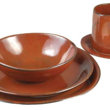Slim Round Place Setting, Signature Glazes