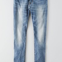 AEO Men's Skinny Active Flex Jean (Light Crackle Destroy)